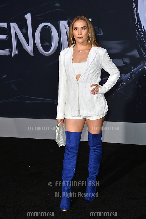 LOS ANGELES, CA. October 01, 2018: Allison Holker at the world premiere for &quot;Venom&quot; at the Regency Village Theatre.<br /> Picture: Paul Smith/Featureflash