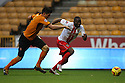 Francis Zoko of Stevenage outpaces Danny Batth of Wolves<br />  - Wolverhampton Wanderers v Stevenage - Sky Bet League One - Molineux, Wolverhampton - 2nd November 2013. <br /> © Kevin Coleman 2013