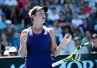 Jennifer Brady of the USA  celebrates during Day Four of the Australian Open Tennis Championships held in Melbourne Park, Australia on 19th January 2017