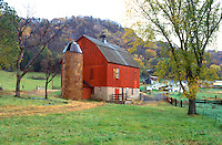 Barn in the countryside.  Nelson Wisconsin USA