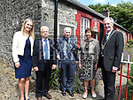 Minister Helen McEntee, Colm Yore Ledwidge Committee, Paul Murphy, Rosemary Yore Committee Chairperson and Gerry O'Connor Cathaoirleach Meath County Council at the Francis Ledwidge centenary commemerations at Ledwidge cottage Slane.  Photo:Colin Bell/pressphotos.ie