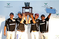 WELLINGTON, FL - DECEMBER 31:  The Tackeria (Wes Finlayson, Jason Crowder, Matt Coppola, Pelon Escapite) wins the Herbie Pennell Cup Final, at the International Polo Club Palm Beach, on December 31, 2017 in Wellington, Florida. (Photo by Liz Lamont/Eclipse Sportswire/Getty Images)