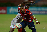 MEDELLIN-COLOMBIA- 30-07-2017. Acción de juego entre el Independiente Medellín y  Cortuluá  durante encuentro  por la fecha 5 de la Liga Aguila II 2017 disputado en el estadio Atanasio Girardot./ Action game between   Independiente Medellin  and Cortulua during match for the date 5 of the Aguila League II 2017 played at Atanasio Girardot stadium . Photo:VizzorImage / León Monsalve / Contribuidor
