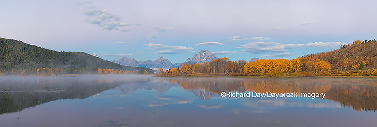 67545-08812 Sunrise at Oxbow Bend in fall, Grand Teton National Park, WY