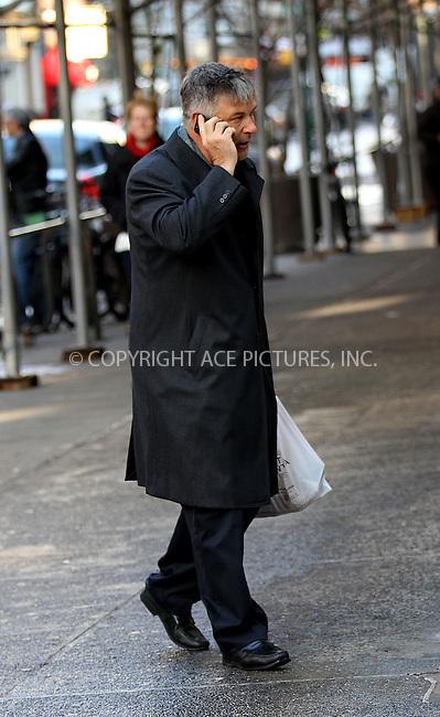 WWW.ACEPIXS.COM<br /> <br /> December 18 2013, New York City<br /> <br /> Alec Baldwin walks in the East Village on December 18 2013 in New York City<br /> <br /> By Line: Zelig Shaul/ACE Pictures<br /> <br /> <br /> ACE Pictures, Inc.<br /> tel: 646 769 0430<br /> Email: info@acepixs.com<br /> www.acepixs.com