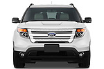 Straight front view of a 2011 Ford Explorer XLT