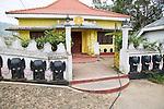 Elephant design Hindu temple, Haputale, Badulla District, Uva Province, Sri Lanka, Asia