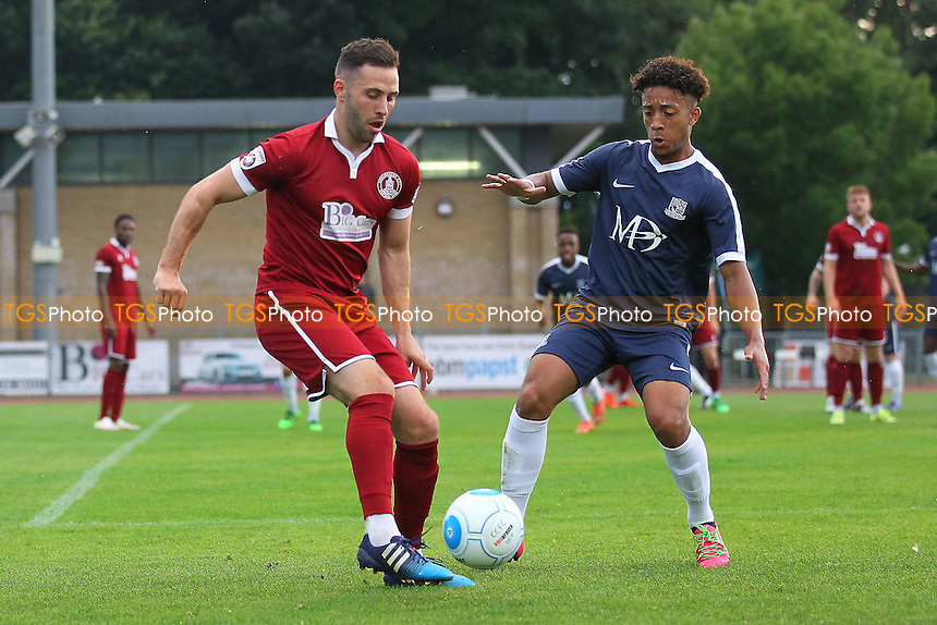 Robbie Willmott in action for Chelmsford during Chelmsford City vs Southend United, Friendly Match Football at Melbourne Park on 27th July 2016