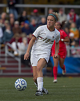 Boston College midfielder Kristen Mewis (19) passes the ball. Boston College defeated Marist College, 6-1, in NCAA tournament play at Newton Campus Field, November 13, 2011.