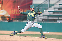 Stephen Nogosek (30) of the Oregon Ducks pitches during a game against the Southern California Trojans at Dedeaux Field on April 18, 2015 in Los Angeles, California. Oregon defeated Southern California, 15-4. (Larry Goren/Four Seam Images)