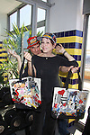 "Days Of Our Lives Louise Sorel poses with Billy Freda (Mr.Romance)  and shows off Jane Elissa Handbags during Promo shoot for the annual Broadway Extravaganza in honor of Jane Elissa's Candidacy for Leukemia & Lymphoma Society Woman of the Year and for Hats for Health on April 23, 2012 at the Marriott Marquis Hotel, New York City, New York. In the shoot are Days of Our Live Louise Sorel ""Vivian"", Broadway Bonnie and Clyde Melissa VanDer Schyff and Clay Elder, Dale Badway (Creator Fame-Wall) and host for the upcoming event, Corey Brunish (producer of Bonnie & Clyde) and Billy Freda, Missy Modell (Photo by Sue Coflin/Max Photos)"