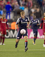 New England Revolution midfielder Jason Griffiths (16) at midfield. Real Salt Lake defeated the New England Revolution, 2-1, at Gillette Stadium on October 2, 2010.