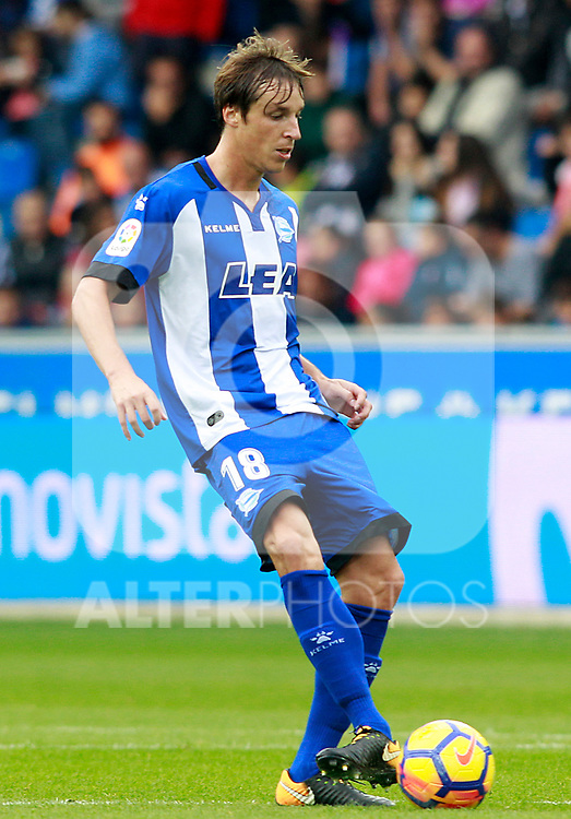 Deportivo Alaves' Tomas Pina during La Liga match. October 28,2017. (ALTERPHOTOS/Acero)