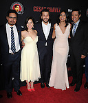 Michael Pena, America Ferrera , Diego Luna,Rosario Dawson and Yancey Arias attends The  Cesar Chavez Los Angeles Premiere held at TCL Chinese Theatre in Hollywood, California on March 20,2014                                                                               © 2014 Hollywood Press Agency