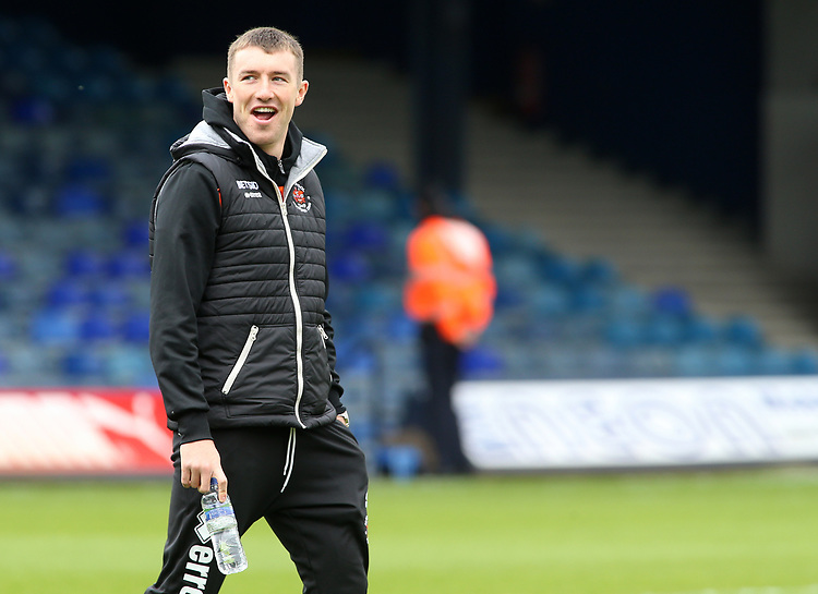 Blackpool's Chris Long checks out Kenilworth Road before kick off<br /> <br /> Photographer David Shipman/CameraSport<br /> <br /> The EFL Sky Bet League One - Luton Town v Blackpool - Saturday 6th April 2019 - Kenilworth Road - Luton<br /> <br /> World Copyright © 2019 CameraSport. All rights reserved. 43 Linden Ave. Countesthorpe. Leicester. England. LE8 5PG - Tel: +44 (0) 116 277 4147 - admin@camerasport.com - www.camerasport.com