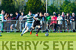 Wayne Sparling Killarney Celtic competes against Sheriff in the FAI cup semi final on Saturday
