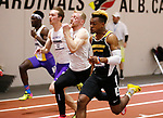 NAPERVILLE, IL - MARCH 11: Jamal Watkins of Birmingham Southern leads the field during the men's 60 meter dash at the Division III Men's and Women's Indoor Track and Field Championship held at the Res/Rec Center on the North Central College campus on March 11, 2017 in Naperville, Illinois. (Photo by Steve Woltmann/NCAA Photos via Getty Images)
