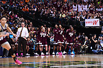 DALLAS, TX - MARCH 31:  The Mississippi State bench celebrates during the 2017 Women's Final Four at American Airlines Center on March 31, 2017 in Dallas, Texas. (Photo by Justin Tafoya/NCAA Photos via Getty Images)