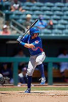Tennessee Smokies P.J. Higgins (7) at bat during a Southern League game against the Jacksonville Jumbo Shrimp on April 29, 2019 at Baseball Grounds of Jacksonville in Jacksonville, Florida.  Tennessee defeated Jacksonville 4-1.  (Mike Janes/Four Seam Images)