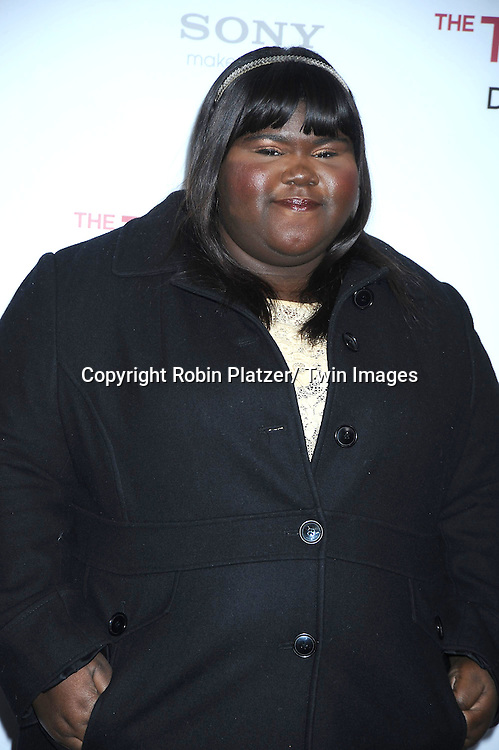 """Gabourey Sidibe at The World Premiere of """"The Tourist"""" on December 6, 2010 at The Ziegfeld Theatre in New York City. The film stars Angelina Jolie and Johnny Depp."""