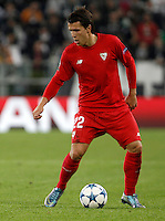 Calcio, Champions League: Gruppo D - Juventus vs Siviglia. Torino, Juventus Stadium, 30 settembre 2015. <br /> Seville's Yevhen Konoplyanka during the Group D Champions League football match between Juventus and Sevilla at Turin's Juventus Stadium, 30 September 2015. <br /> UPDATE IMAGES PRESS/Isabella Bonotto