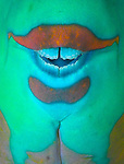 Abstract of the mouth of a parrotfish, Southern Egyptian Red Sea