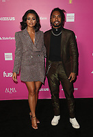 LOS ANGELES, CA - NOVEMBER 4: Nazanin Mandi and Miguel at The 2018 Alma Awards at the LA Live Event Deck in Los Angeles, California on November 4, 2018. <br /> CAP/MPI/FS<br /> &copy;FS/MPI/Capital Pictures
