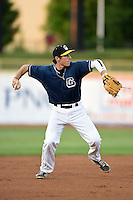 Lake County Captains third baseman Grant Fink (33) during a game against the Dayton Dragons on June 7, 2014 at Classic Park in Eastlake, Ohio.  Lake County defeated Dayton 4-3.  (Mike Janes/Four Seam Images)