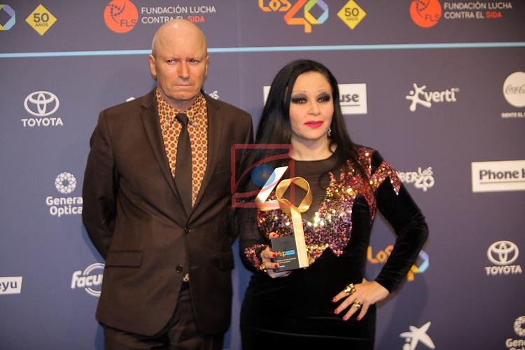 Los 40 MUSIC Awards 2016 - Photocall.<br /> Fangoria.