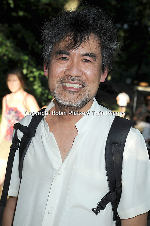 """playwright David Henry Hwang attending the Public Theatre's Annual  Gala on June 21, 2010  at the opening of """"The Merchant of Venice"""" at the Delacorte Theatre in Central Park in New York City."""