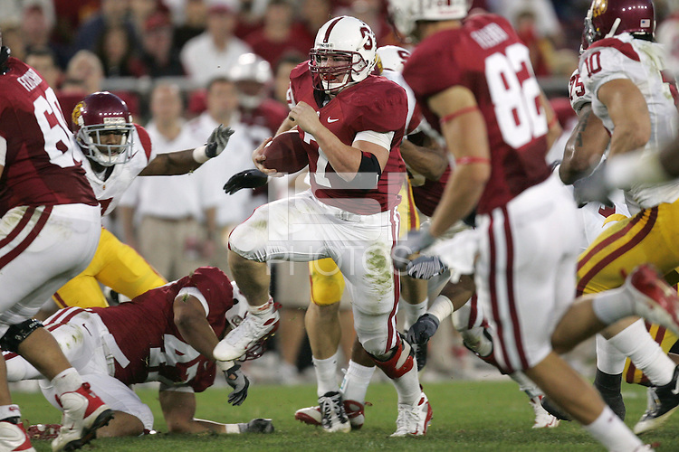 STANFORD, CA - NOVEMBER 15:  Toby Gerhart of the Stanford Cardinal during Stanford's 45-23 loss to the USC Trojans on November 15, 2008 at Stanford Stadium in Stanford, California.