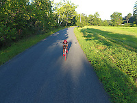 Ali Burke cycling thru Sugar Hallow located in Whitehall, Va. Photo/Andrew Shurtleff