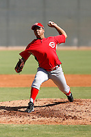 Ezequiel Infante - Cincinnati Reds 2009 Instructional League. .Photo by:  Bill Mitchell/Four Seam Images..