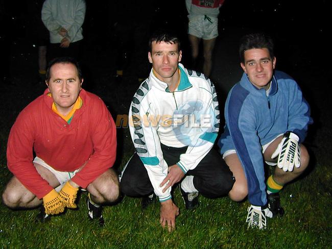Sydden GFC.Brendan Weldon, Philip Duff and Shane Dardis.Picture by Fran Caffrey Newsfile