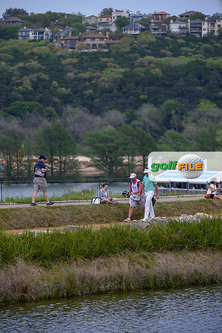 Ian Poulter (GBR) walks around the lake on 11 during day 2 of the WGC Dell Match Play, at the Austin Country Club, Austin, Texas, USA. 3/28/2019.<br /> Picture: Golffile | Ken Murray<br /> <br /> <br /> All photo usage must carry mandatory copyright credit (© Golffile | Ken Murray)
