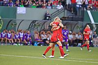Portland, Oregon - Sunday April 17, 2016: Portland Thorns FC midfielder Dagny Brynjarsdottir (11). The Portland Thorns play the Orlando Pride during a regular season NWSL match at Providence Park. The Thorns won 2-1.