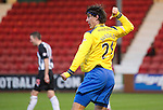 Dunfermline v St Johnstone..24.12.11   SPL .Fran Sandaza celebrates his goal.Picture by Graeme Hart..Copyright Perthshire Picture Agency.Tel: 01738 623350  Mobile: 07990 594431