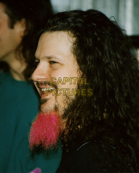 DIMEBAG DARRELL ABBOTT - DAMAGEPLAN (formerly of PANTERA)  .Shot and killed during the band's first song Wednesday, Dec. 8, 2004. Four other people, including the shooter, were killed in the Columbus, Ohio, shooting. .November 28, 2004.headshot, portrait, goatee, facial hair, pink.www.capitalpictures.com.sales@capitalpictures.com.© Capital Pictures.