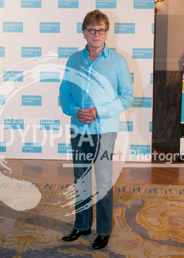 26/11/2012. Madrid. Spain. Hotel Ritz. he american actor Robert Redford promotes his TV channel: Sundance Chanel in Spain. Photo: Eduardo Dieguez and Belen Diaz / DyD Fotografos