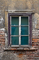 Old window and peeling paint, Zagreb, Croatia