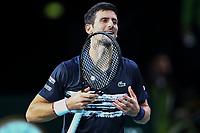 1st November 2019, AccorHotels Arena, Bercy, Paris, France; Rolex Paris Masters tennis tournament;  joie Novak Djokovic (SER)