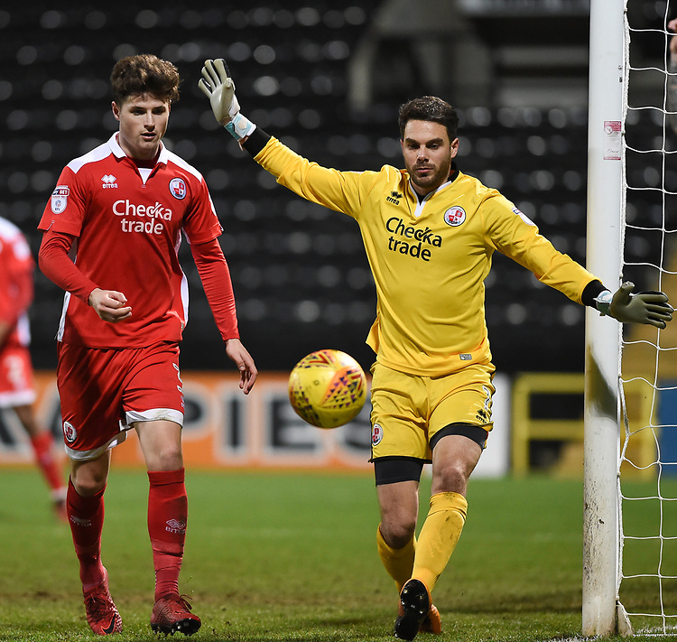 Crawley Town&rsquo;s Glenn Morris, Josh Doherty<br /> <br /> Photographer Jon Hobley/CameraSport<br /> <br /> The EFL Sky Bet League Two - Notts County v Crawley Town - Tuesday 23rd January 2018 - Meadow Lane - Nottingham<br /> <br /> World Copyright &copy; 2018 CameraSport. All rights reserved. 43 Linden Ave. Countesthorpe. Leicester. England. LE8 5PG - Tel: +44 (0) 116 277 4147 - admin@camerasport.com - www.camerasport.com