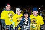 Tim Fleming, Siobhain Griffin, Marie Carroll and Micheal O Muircheartaigh start Nathans Darkness into Light walk at Killarney Racecourse Saturday morning