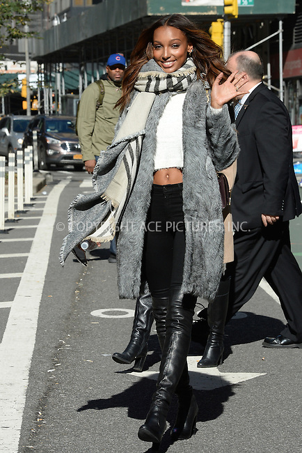 www.acepixs.com<br /> November 1, 2016  New York City<br /> <br /> Jasmine Tookes arriving to a fitting at Victoria's Secret in Midtown on November 1, 2016 in New York City.<br /> <br /> <br /> Credit: Kristin Callahan/ACE Pictures<br /> <br /> <br /> Tel: 646 769 0430<br /> Email: info@acepixs.com