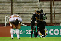 BUENOS AIRES - ARGENTINA - 24-02-2016: Los jugadores de Atletico Nacional de Colombia, celebran el segundo gol anotado a Huracan de Argentina, durante partido de la Primera Fecha del Grupo 4 por la Segunda Fase, entre Huracan y Atletico Nacional de la Copa Bridgestone Libertadores 2016 en el Estadio Tomas A Duco, de la ciudad de Buenos Aires.  / The players of Atletico Nacional of Colombia, celebrate the second goal scored against Huracan of Argentina, during a match for the first date of the Group 4 for the second phase between Huracan and Atletico Nacional of Colombia for the Bridgestone Libertadores Cup 2016, in the Tomas A Duco, Stadium, in Buenos Aires city. Photo: Photogamma / Javier Garcia Martino / VizzorImage / Cont