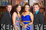 Pictured at the St. Joseph's Secondary School, Abbeyfeale Debs in the Abbeygate Hotel on Thursday, from left: Thomas Ward, Sorcha Cotter, Lisa Scanlon, Daniel Mulcahy.