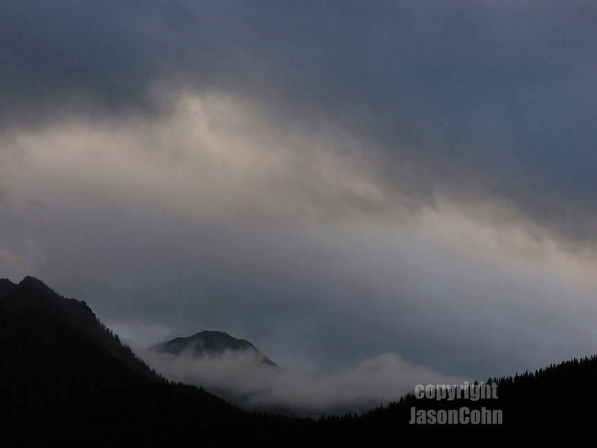 An evening storm in Glacier Park, Montana. Photo by Jason Cohn