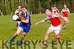 Pat Spillane Kenmare District in action against Dingle in the Senior Football Championship at Templenoe on Saturday.