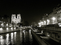 Night view of Notre Dame & Seine