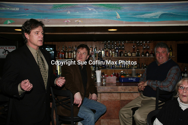 """On The Set"" Premier Party - Guiding Light's Frank Dicopoulos ""Frank Cooper"" is host of On The Set as he hosts the live airing of the show on Public Television NJN on February 23, 2010 at Sallee Tee's Grille in Monmouth Beach, NJ. The premier show is A Tribute To Guiding Light - a tribute to the soap - follows actors and crew members through a typical day of production. (Photo by Sue Coflin/Max Photos)"